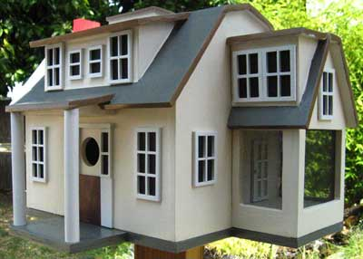 advanced wooden bird house