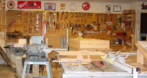 big collection woodworking tools