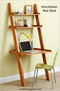 knockdown wall desk