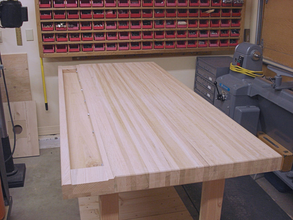 How to make your own woodworking bench top for Simple workshop table