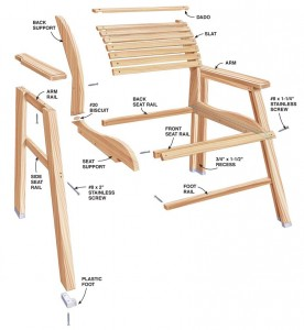 Wooden furniture example