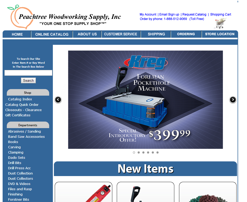 Peachtree Woodworking Website