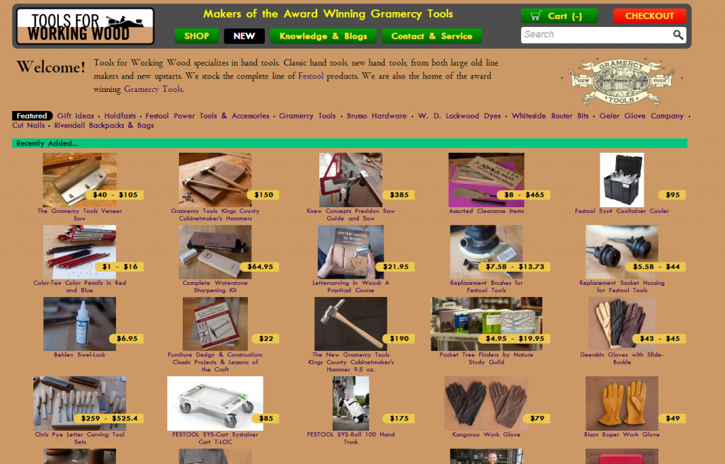 Tools For Working Wood Online Store