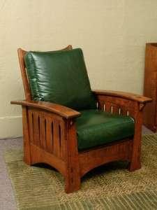 brown arm morris chair
