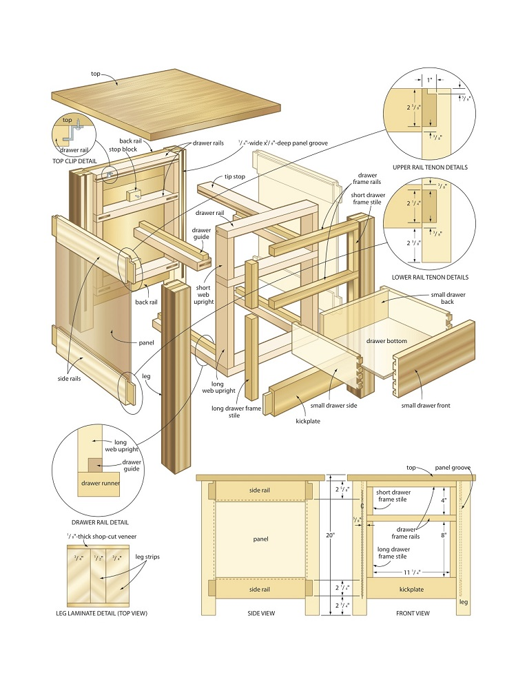 Understanding woodworking plans and drawings Create blueprints online free