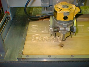 wood router in action