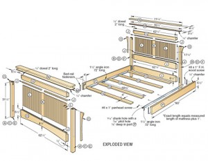 woodworking plan for bed