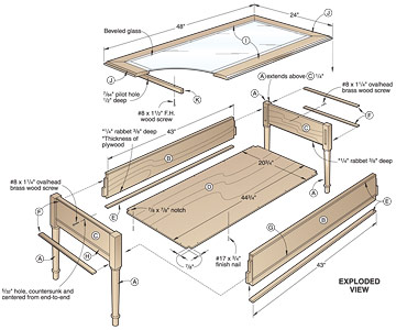 Coffee Table Plans.4 Free Coffee Table Woodworking Plans To Try