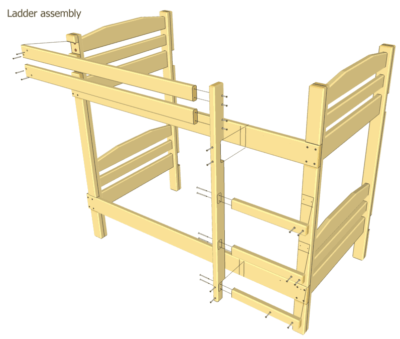 4 free loft bed plans to try for you Loft bed plans