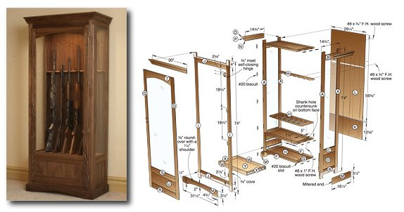 3 gun cabinet plans to try for an aspiring woodworker gun cabinet plans teraionfo