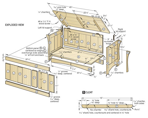 4 Simple Toy Box Woodworking Plans