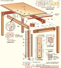 Woodworking Table Plan Example