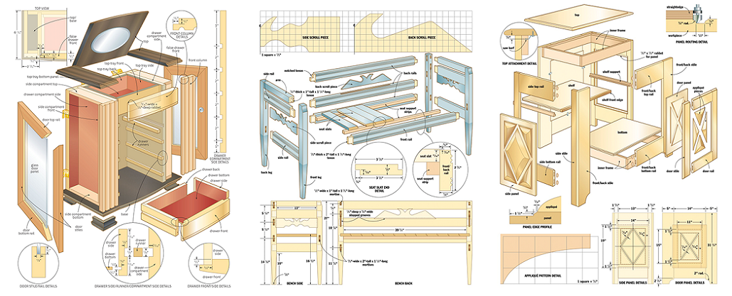 150 Highly Detailed Woodworking Projects & E-Books — Mikes ...